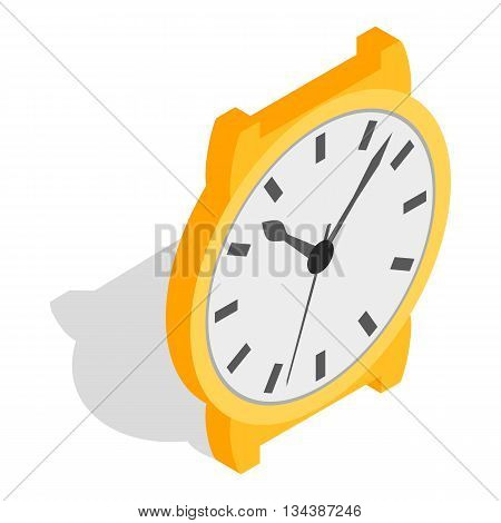 Swiss watch icon in isometric 3d style on a white background