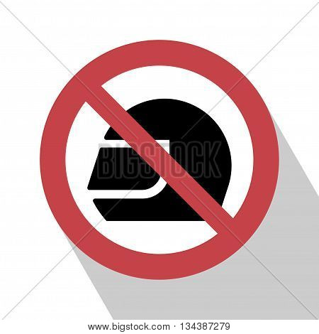 No Helmet Sign. No helmet Sign vector illustration. Not helmet sign vector. All in a single layer. No helmet Sign Elements for design. No helmet Sign with Long Shadow.
