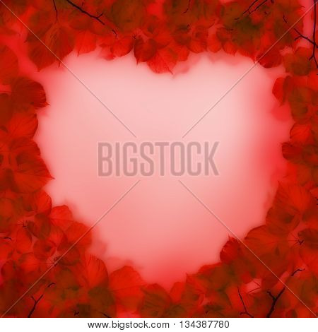 Abstract red heart love concept for text