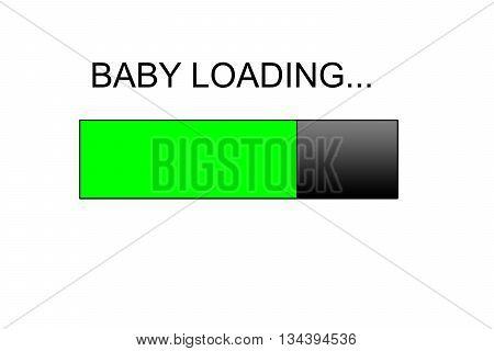 baby loading Progress bar design, green loading bar