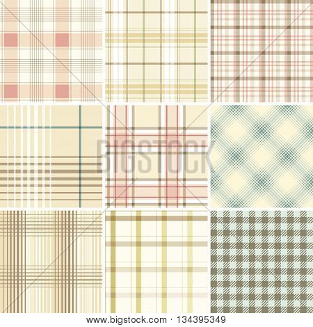 Seamless Set Tartan. Good for wrapping paper and fabric design.