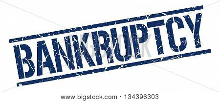 Bankruptcy Stamp. Vector. Stamp. Sign. Bankruptcy. Blue.