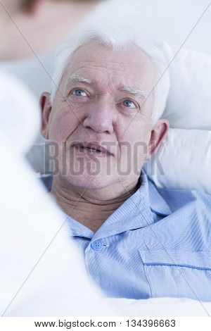 Elderly Male Patient At Hospital