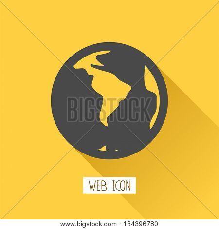 Globe icon.Vector