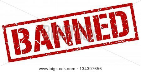 Banned Stamp. Vector. Stamp. Sign. Banned. Red.