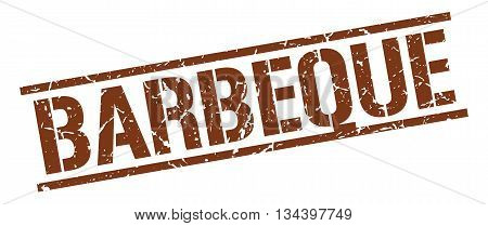 Barbeque Stamp. Vector. Stamp. Sign. Barbeque. Brown.