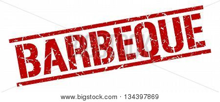 Barbeque Stamp. Vector. Stamp. Sign. Barbeque. Red.