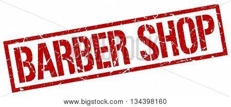 Barber Shop Stamp. Vector. Stamp. Sign. Barber.shop. Red.