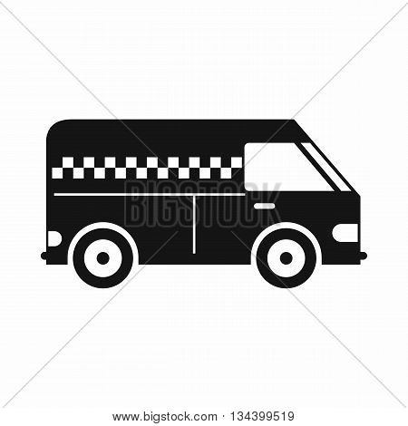 Minibus taxi icon in simple style isolated on white background