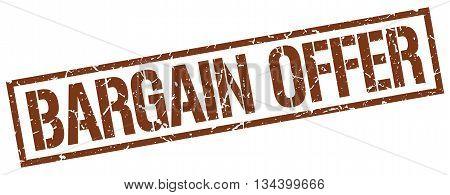 Bargain Offer Stamp. Vector. Stamp. Sign. Bargain.offer. Brown.