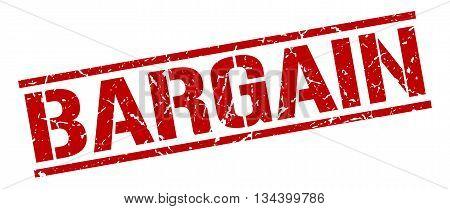 Bargain Stamp. Vector. Stamp. Sign. Bargain. Red.