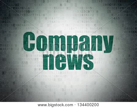 News concept: Painted green word Company News on Digital Data Paper background