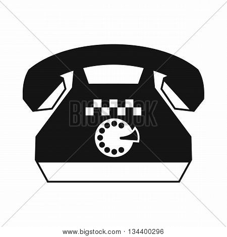 Taxi phone icon in simple style isolated on white background