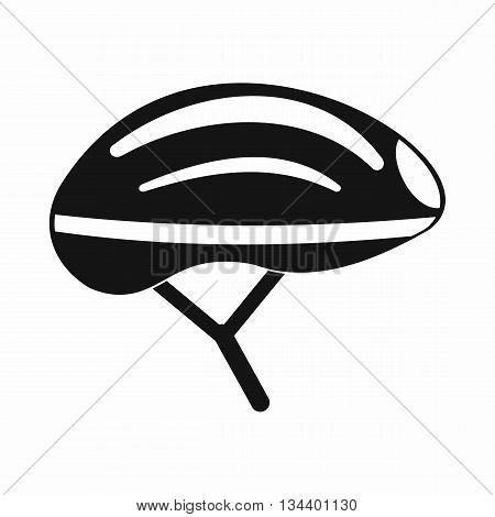 Bicycle helmet icon in simple style isolated on white background