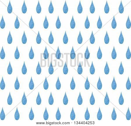 Watercolor background raindrops. Watercolor raindrop seamless background.  Rain (nimbus) cloud precipitation with rain drops.