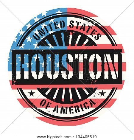 Grunge rubber stamp with the text United States of America, Houston, vector illustration