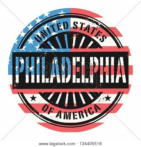 Grunge rubber stamp with the text United States of America, Philadelphia, vector illustration