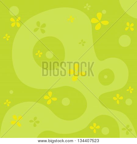 natural abstract green background  - vector illustration