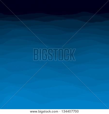 seamless decorative abstract blue wavy vector background