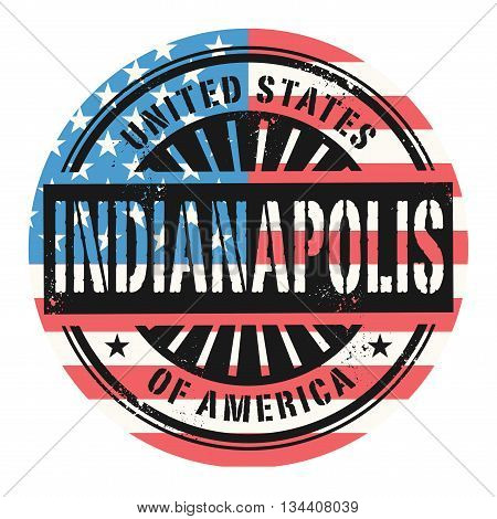 Grunge rubber stamp with the text United States of America, Indianapolis, vector illustration