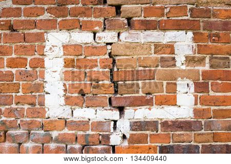 Background Of Old Brick Wall Pattern Texture.