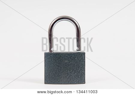 Padlock isolated on white in an open unlocked position