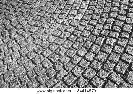 Gray Cobblestone Street Pavement