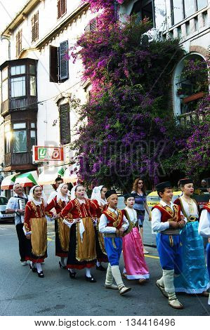 Montenegro, Herceg Novi - 28/05/2016: Children of the folk ensemble