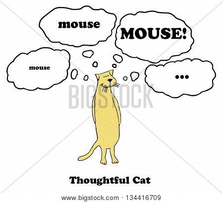 Cartoon of a mouse who enjoys chasing mice.