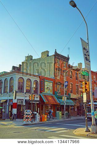 2Nd Street In The Old City In Philadelphia