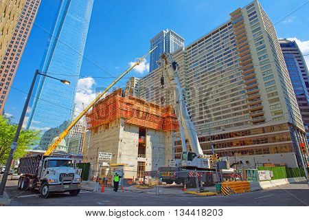 Construction Repair In Arch Street In Philadelphia In Pa