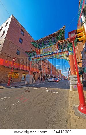 Gate In Chinatown In Philadelphia