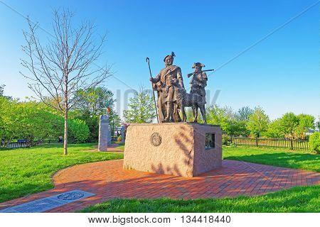 Monument To Scottish Immigrants At Penn Landing In Philadelphia