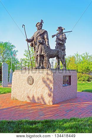 Monument To Scottish Immigrants At Penn Landing Of Philadelphia