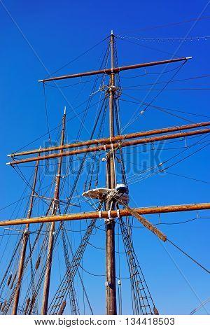 Pillar Of A Ship In Delaware River In Philadelphia