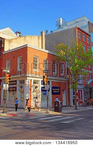 Street In The Old City Of Philadelphia Pa