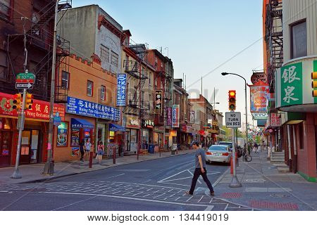 Street View In Chinatown In Philadelphia Pa