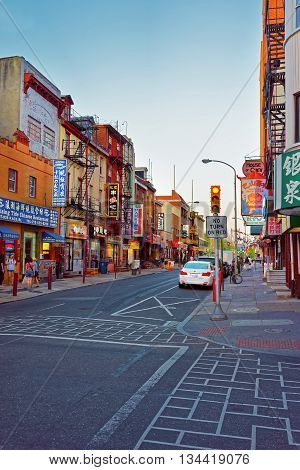 Street View In Chinatown Of Philadelphia Pa