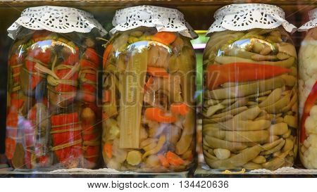 Traditional Turkish pickles of various fruits and vegetables. There is an important place in Turkey and produced first by the Turks.