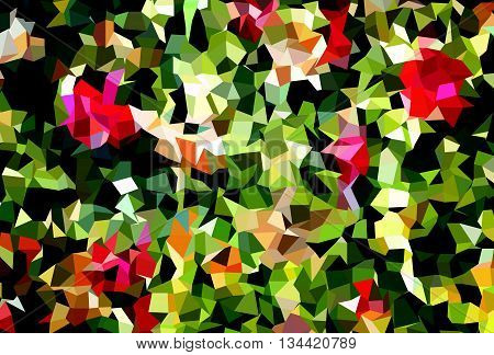 vector polygon colorful abstract background of X-mas tree