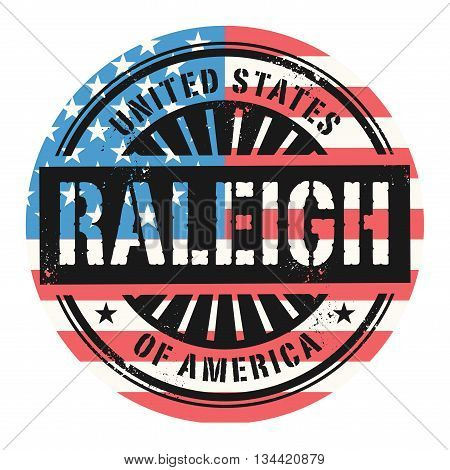 Grunge rubber stamp with the text United States of America, Raleigh, vector illustration