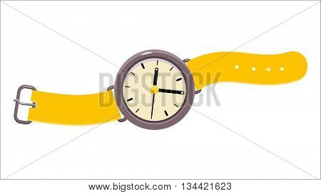 A vector illustration of analog wristwatch. A part of Dodo collection - a set of educational cards for children.