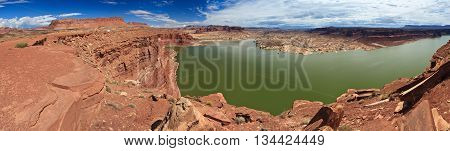 Lake Powell And Colorado River In Glen Canyon National Recreation Area,  Utah