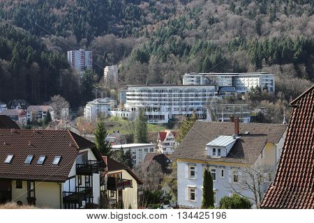 Outlook Over The Town Of Bad Herrenalb, Baden-wurttemberg, Germany