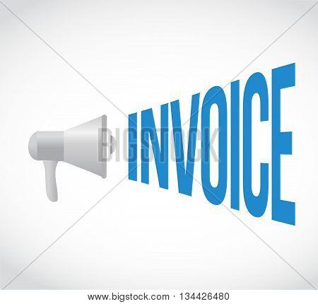 Business Invoice Megaphone Message