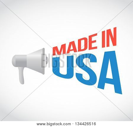 Made In Usa Megaphone Message