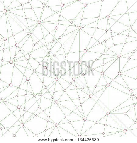 Abstract Technology background. Seamless pattern. Cloud computing concept. Stylized texture with connected points. Idea of Internet communication.