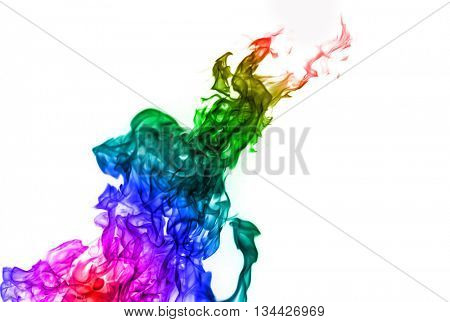 Faerie Fire. Multi-colored smoke.