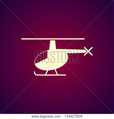 Helicopter Icon. Flat