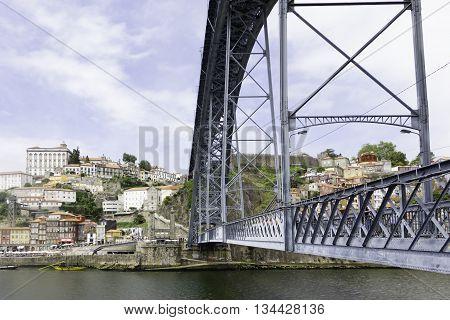 A view of Ancient city Porto, Dom Luis Bridge